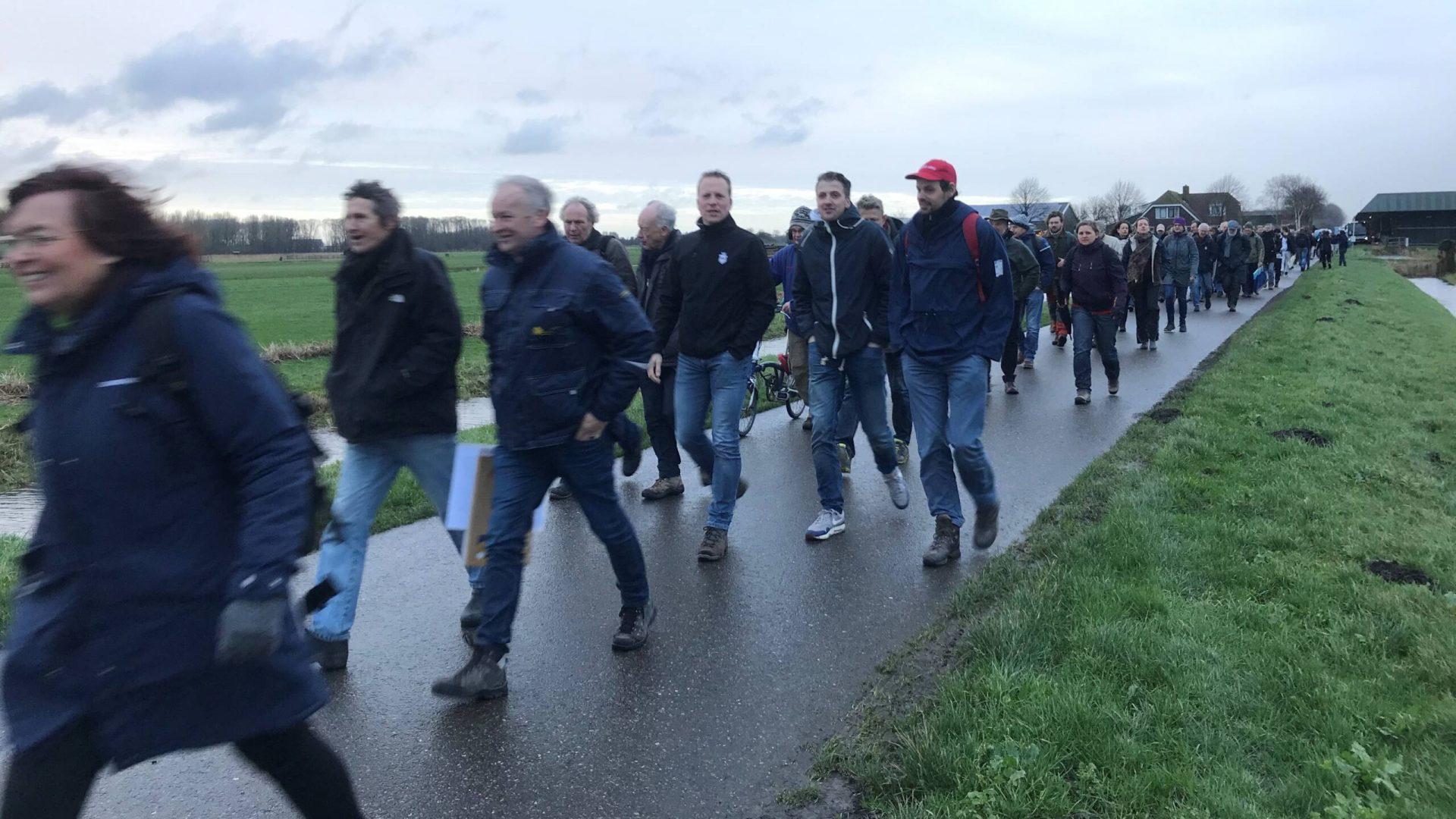 9 Geert van der Veer van Herenboeren Nederland loopt mee in Kring Loop